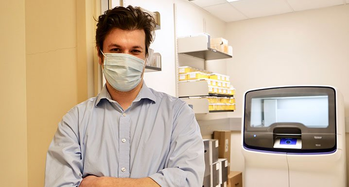 Dr. Brandon Sheffield, Pathologist, Medical Director of Immunohistochemistry and Molecular Pathology and Physician Lead, Research