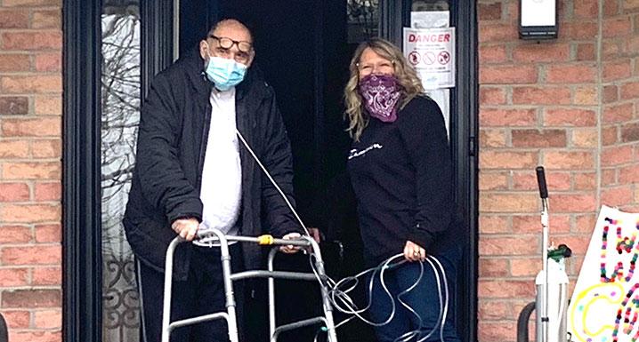 COVID-19 patient Tony Passarelli with his wife Linda