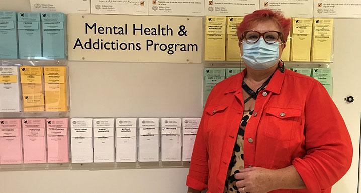 Melanie, registered nurse and Mental Health Outpatient program lead at Osler's Etobicoke General Hospital