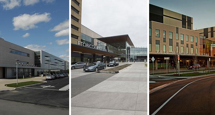 Osler's three hospital sites: Brampton Civic, Etobicoke General and Peel Memorial