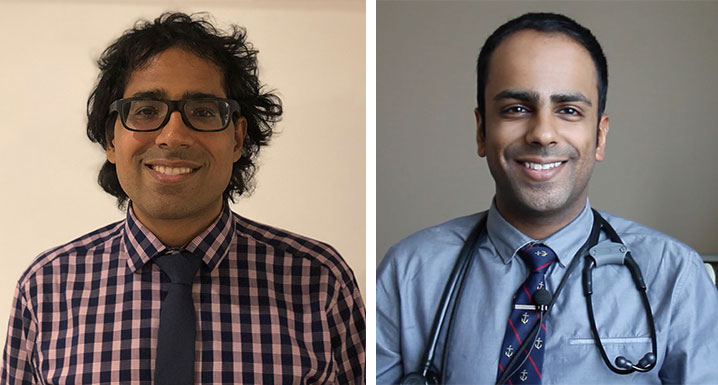 (l-r) Dr. Amit Ayra, Palliative Care Physician and Dr. Naheed Dosani, Palliative Care Physician