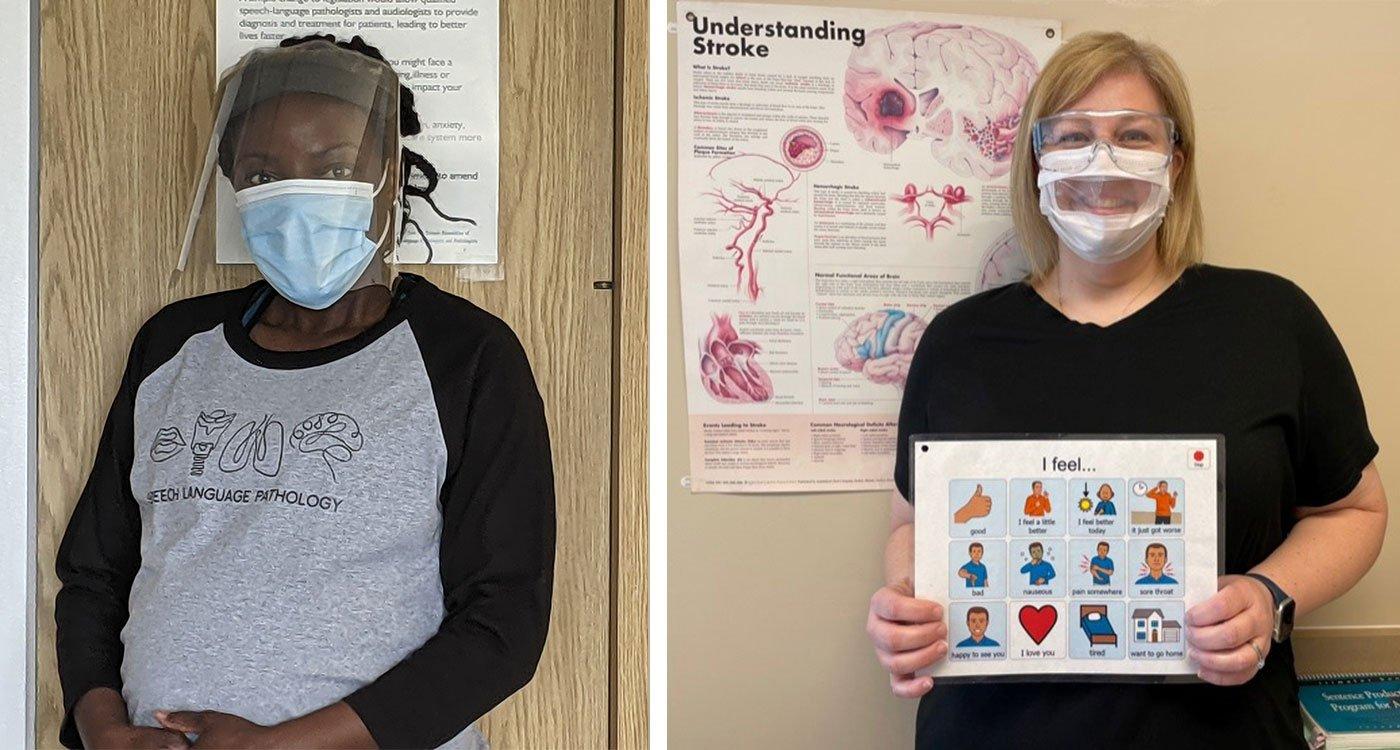 (l-r) Marsha Wilson, Speech Language Pathologist at Osler and Heather Dawson, Communicative Disorder Assistant at Osler